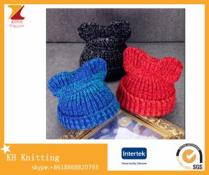 Hotselling Winter Custom Knitted Cute Cat Ear Beanie pictures & photos