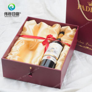 2017 Latest Deluxe Fancy Paper Packaging Drawering Box with Handle Printing for Wine pictures & photos