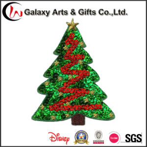 Custom Tree Design Sequin Applique Tree Embroidery Patch for Garment pictures & photos
