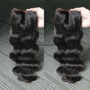 Brazilian Hair Body Wave 4 X 4 Lace Closure Three Part pictures & photos