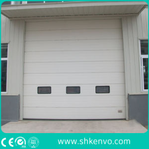 Automatic Overhead Sectional Garage Door with Small Man Door pictures & photos