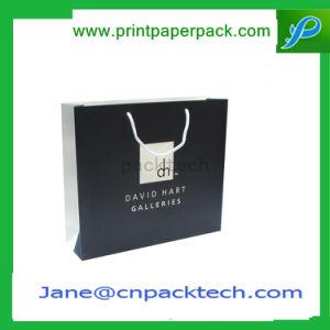 Custom Black Art Paper Gift Carrier Shopping Bag pictures & photos