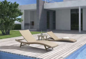 S Shape Wicker Outdoor Bench Pool Sun Lounge