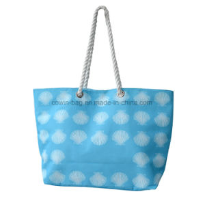 Large Printed Beach Canvas Tote Bag with Rope Handle pictures & photos