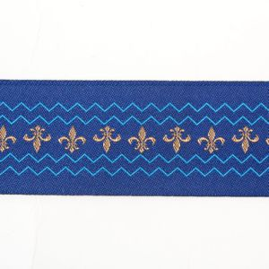 The Double Row Baroque Style Printed Woven label pictures & photos