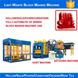 Wante Machinery Qt6-15 Fully Automatic Block Making Machine Delivering to Russia pictures & photos