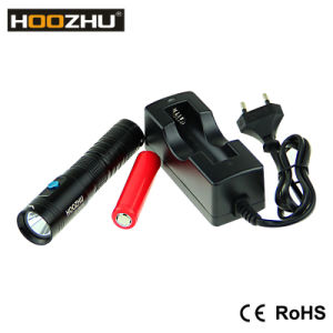 New Hoozhu U10 900lumen IP68 LED Scuba Diving Flashlight, Button Switch Diving Flashlight pictures & photos