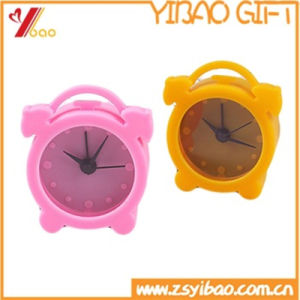 Hot Sale Custom Logo Silicone Lovely Clock pictures & photos