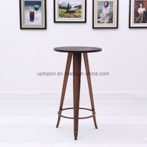 Modern High Wooden Top Bar Table with Metal Feet (SP-BT713) pictures & photos