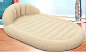 Folding Flocked Chair Air Bed /Inflatable Airbed /Flocked Air Bed pictures & photos
