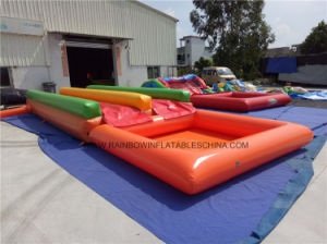 Children′s Small Inflatable 2n Slip Slide with Water Swimming Pool pictures & photos