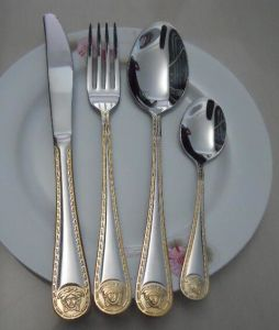 Stainless Steel Mirror Polish Flatware Set with Customized Logo pictures & photos