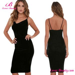 Private Label Cheap Black Women Dress