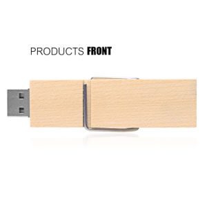 Wood Clip USB Flash Pendrive Laser Engraved Logo Promotion Gift pictures & photos