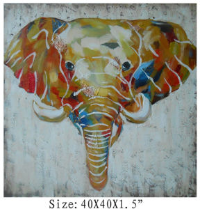 100% Handpainted High Textured Elephant Art on Canvas (Item #705343) pictures & photos