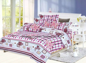 Printed Adult Poly/Cotton King Fitted Bedspread Patchwork Bedding Set pictures & photos