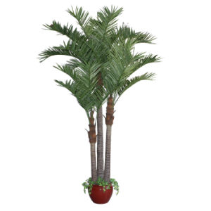 Artificial Coco Palm Tree with 15inch Fiber Glass Pot