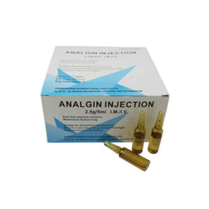 Analgin Injection, 500mg/5ml, 10′s/Box, Western Medicine pictures & photos