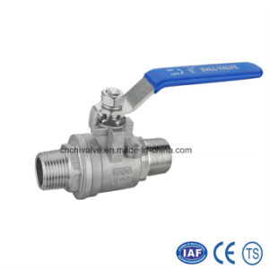 2PC Stainless Steel Male Thread Ball Valve pictures & photos