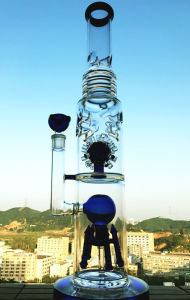 18inch 5thickness Honeycomb Ball Birdcage Perc Glass Smoking Water Pipe pictures & photos