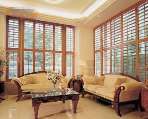Top Quality PVC or Wood Plantation Shutter pictures & photos