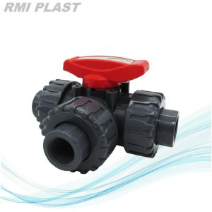 PVC Three Port Ball Valve by Socket End pictures & photos