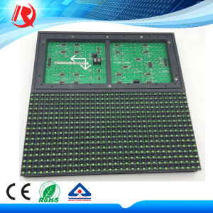 Waterproof IP65 Outdoor Semioutdoor Advertising Single Green Color P10 LED Display Module pictures & photos