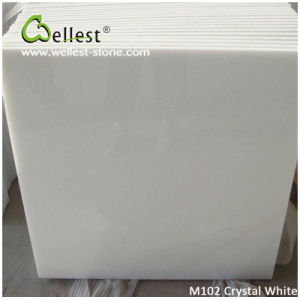 China Popular White Marble M101 Crystal White Polished Marble Tile for Floor/Wall Cladding pictures & photos