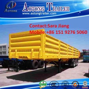 Best Selling Tri Axle 40ft Flatbed Cargo Trailer for Sale pictures & photos