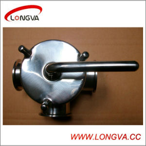Sanitary Stainless Steel Three Way Plug Valve pictures & photos