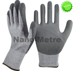 Nmsafety PU Coated Cut Resistant Safety Work Glove pictures & photos