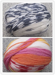 Jacquard Print Wool Yarn (0305-DR1004) pictures & photos