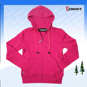 Women′s Zip up Hoodie with Earphone (ZH-101)