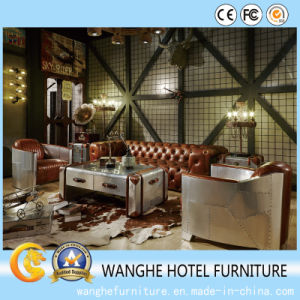 Antique New Creative Style Bar Lobby Sofa Set with Metal Decoration pictures & photos