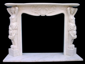 Lady Carving Stone Fireplace, Marble Fireplace, Mantel pictures & photos