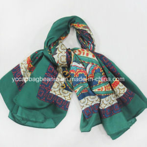 New Design Printed 100% Mulberry Silk Scarf pictures & photos