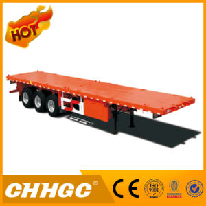 Container Trailer 3 Axle Flatbed Truck Trailer 35ton Load pictures & photos