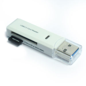 Support 2tb SD SDHC Sdxc MMC TF Microsd Microsdhc Microsdxc 2 in 1 USB3.0 Card Reader pictures & photos