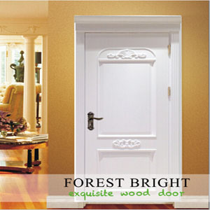Front Molding Door, White Hotel Interior Door with Raised Molding pictures & photos