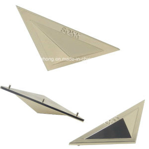 Triangle 3D Metal Plate for Bag pictures & photos
