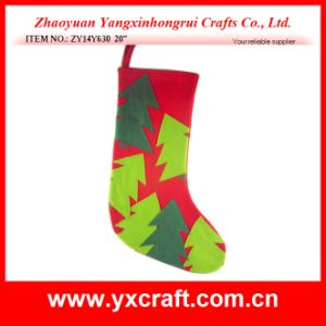 Christmas Decoration (ZY14Y630 20′′) Christmas Tree Hanging Santa Stocking pictures & photos