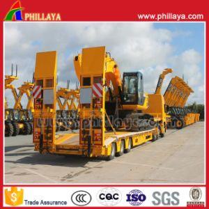 3 Axles Transport Excavator Lowbed Heavy Haul Trailer pictures & photos