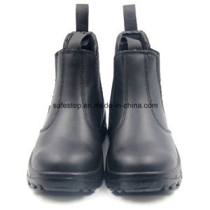 Smooth Action Leather No Lace Security Shoes Ss-056 pictures & photos