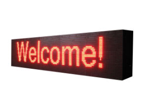 P10 Red Color High Brightness Programmable Semi-Outdoor LED Sign pictures & photos