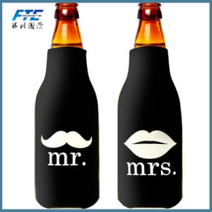 Color Neoprene Insulated Bottle Cooler with Zipper for Lover pictures & photos