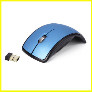 Fashion Blue Mini Portable Optical USB Wireless Mouse