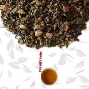 Chinese Green Tea with Mango Fruit Aroma Chinese Green Fruit Tea pictures & photos