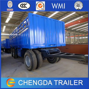 Tri Axles 30 Ton Cargo Full Trailer with Turnable Drawbar pictures & photos