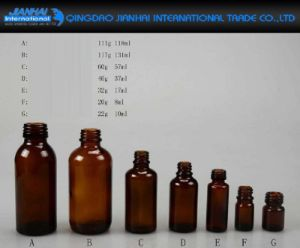 8ml-131ml Amber Glass Oil, Syrups, Medicine Bottle with Cap pictures & photos