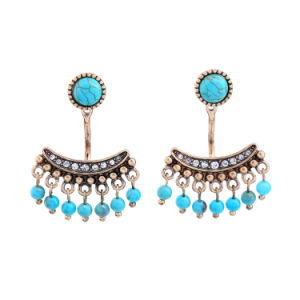 New Retro Personal Detachable Inlaid Diamond Flower Shape Women′s Alloy Earrings pictures & photos
